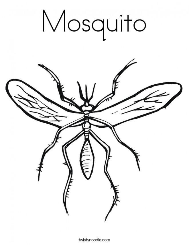 Coloriage et dessins gratuits La structure de Moustique à imprimer