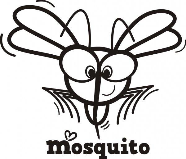 Coloriage et dessins gratuits Moustique dessin animé à imprimer