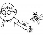 Coloriage Moustique et l'enfant malheureux