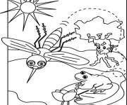 Coloriage Moustique et la Grenouille