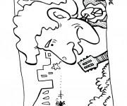 Coloriage Moustique et le guitariste
