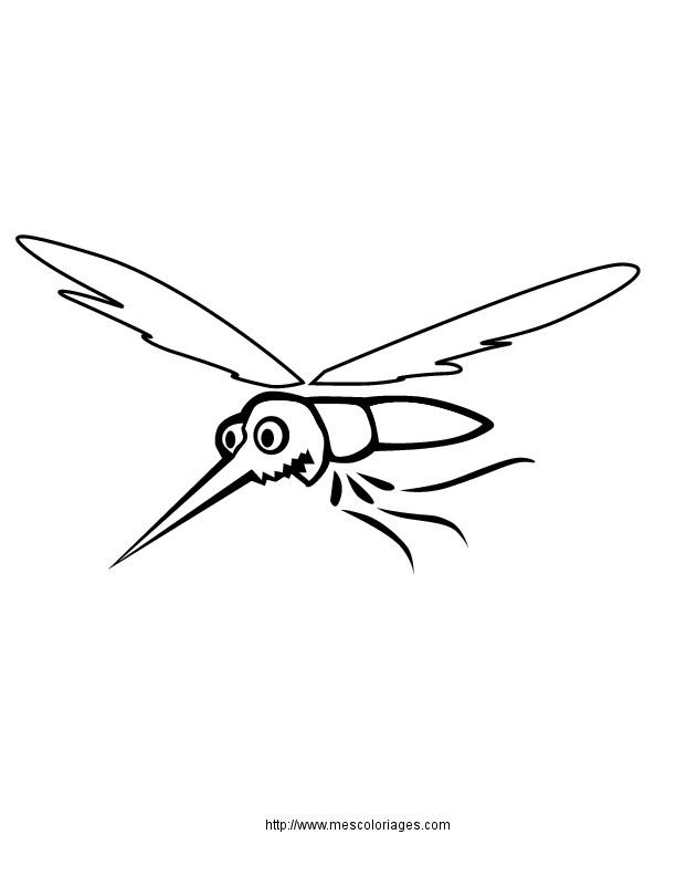Coloriage et dessins gratuits Moustique facile à imprimer