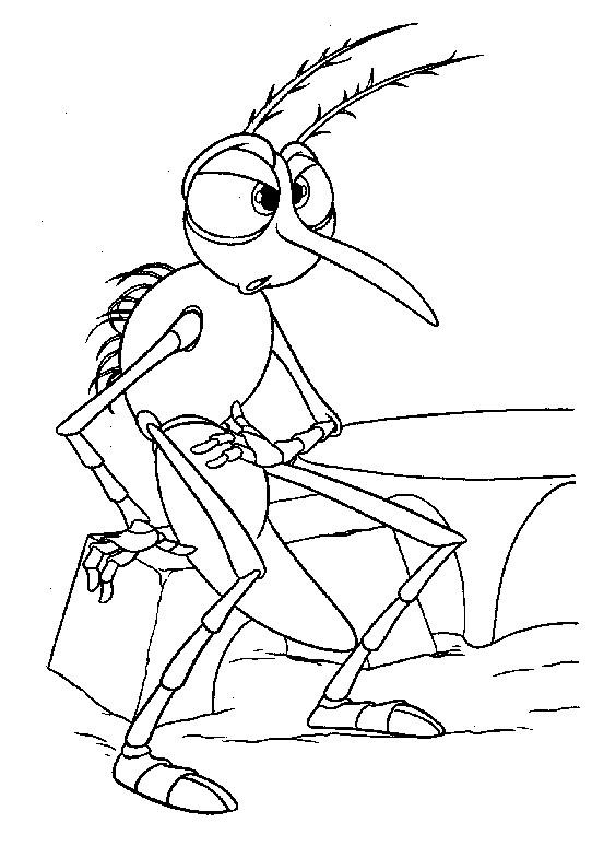 Coloriage et dessins gratuits Moustique humour à imprimer