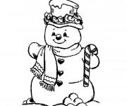 Coloriage et dessins gratuit Bonhomme de Neige à imprimer