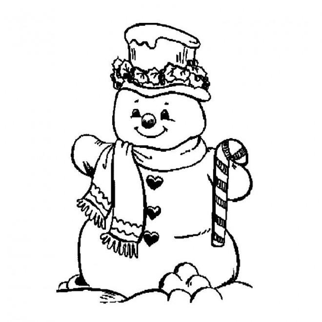 Coloriage et dessins gratuits Bonhomme de Neige à imprimer