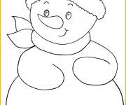 Coloriage et dessins gratuit Bonhomme de Neige stylisé à imprimer