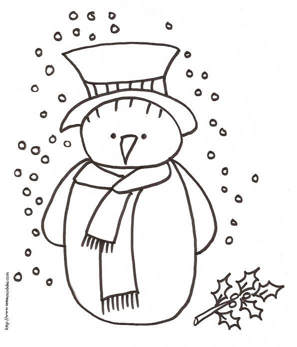 Coloriage et dessins gratuits Bonhomme de neige triste à imprimer