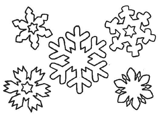 Coloriage des flocons de neige hivernale dessin gratuit imprimer - Dessiner un flocon de neige ...