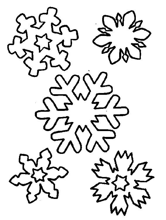 Coloriage et dessins gratuits Flocon de Neige à décorer à imprimer