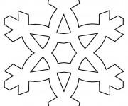 Coloriage et dessins gratuit Flocon de Neige à découper à imprimer