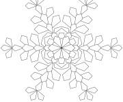 Coloriage et dessins gratuit Flocon de Neige à télécharger à imprimer