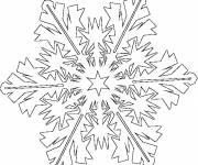 Coloriage et dessins gratuit Flocon de Neige avec style à imprimer