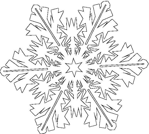 Coloriage et dessins gratuits Flocon de Neige avec style à imprimer