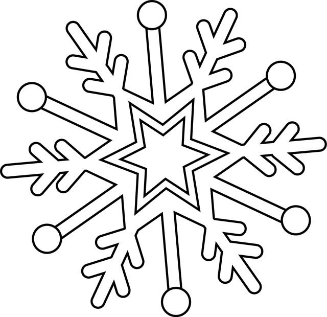 Coloriage flocon de neige facile dessin gratuit imprimer - Dessin de neige ...