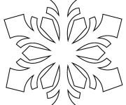Coloriage et dessins gratuit Flocon de Neige mandala à imprimer