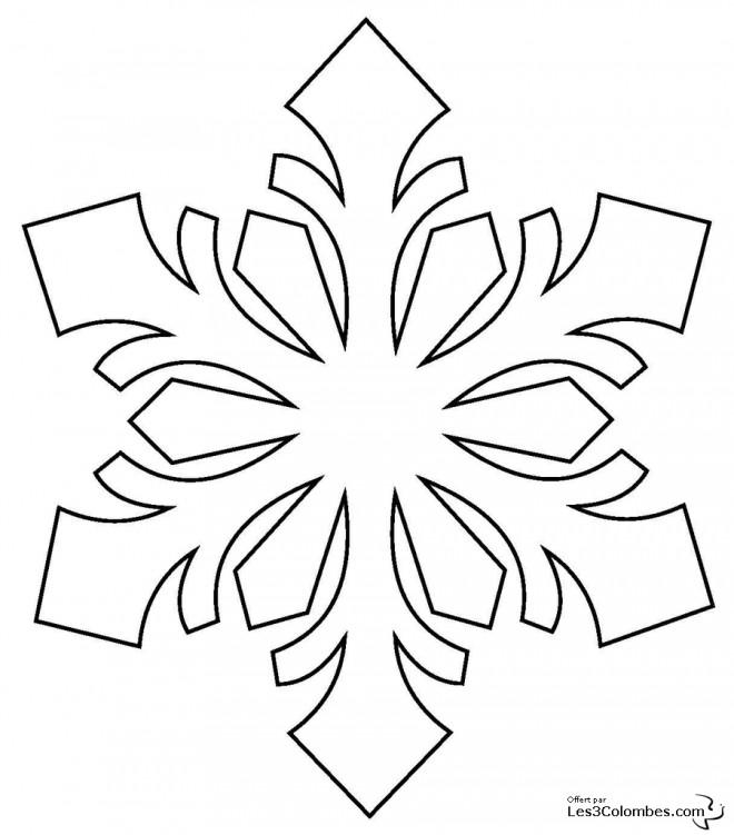 Coloriage et dessins gratuits Flocon de Neige mandala à imprimer