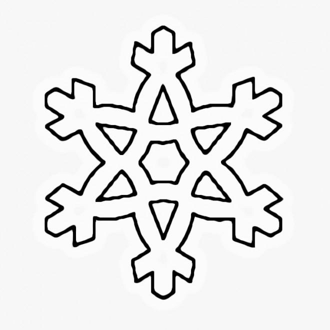 Coloriage flocon de neige pour enfant dessin gratuit imprimer - Dessiner un flocon de neige ...
