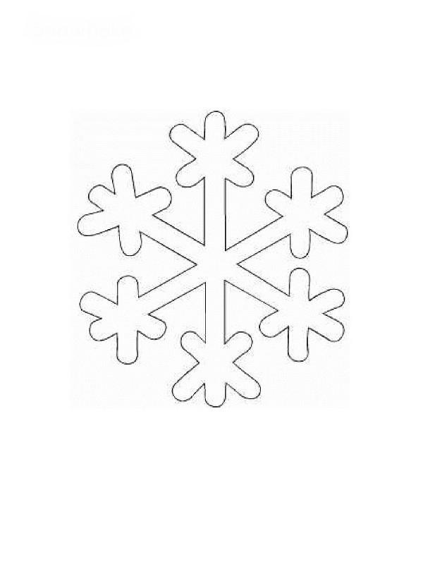 Coloriage et dessins gratuits Flocon Noël à imprimer