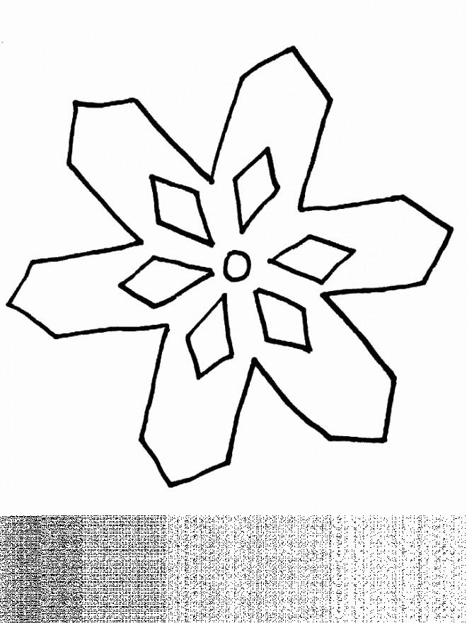 Coloriage et dessins gratuits Flocon qui brille à imprimer