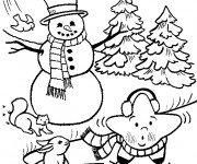 Coloriage et dessins gratuit La Neige en hiver à imprimer