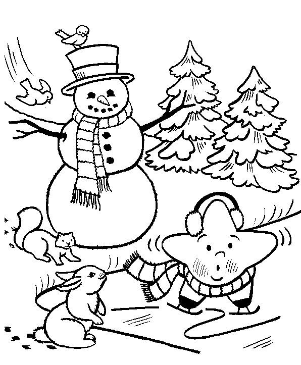 Coloriage et dessins gratuits La Neige en hiver à imprimer