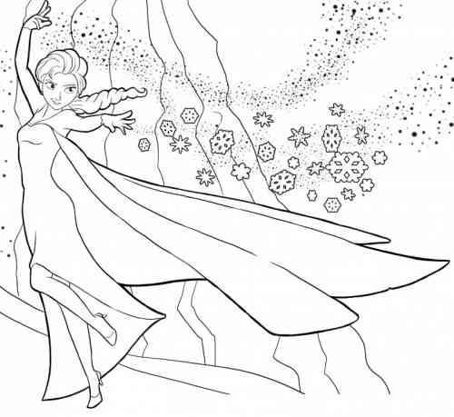 Coloriage et dessins gratuits Neige en Montagne à imprimer