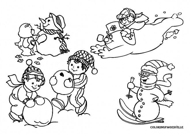 Coloriage et dessins gratuits Neige Noël à imprimer