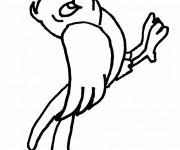 Coloriage Oiseau facile