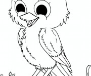 Coloriage Oiseau qui chante
