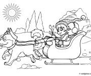 Coloriage Enfants et leurs chien