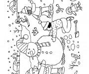 Coloriage et dessins gratuit Hiver en couleur à imprimer