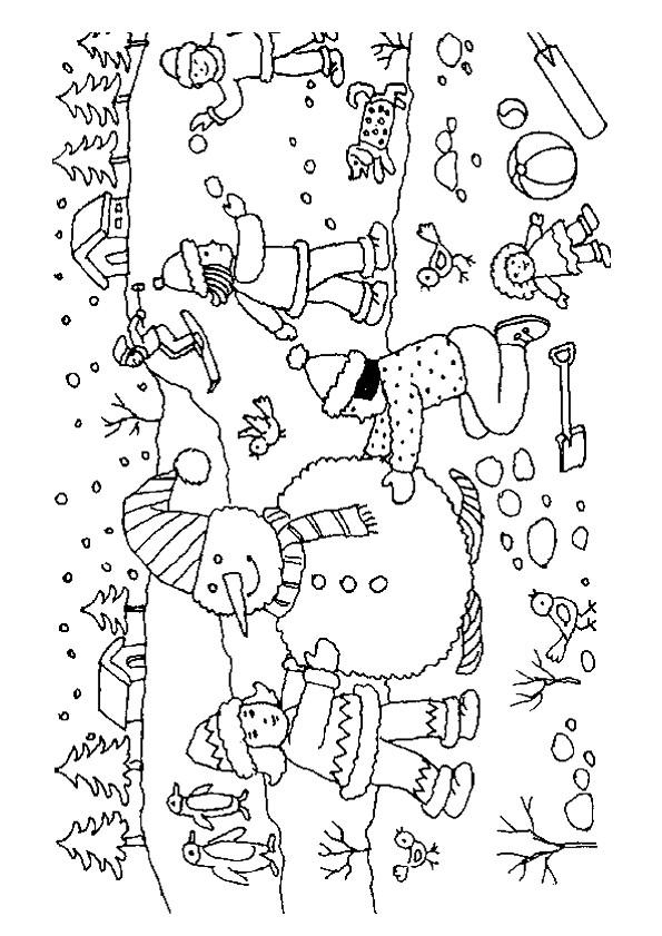 Coloriage et dessins gratuits Hiver en couleur à imprimer