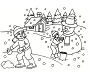 Coloriage Hiver Neige 5