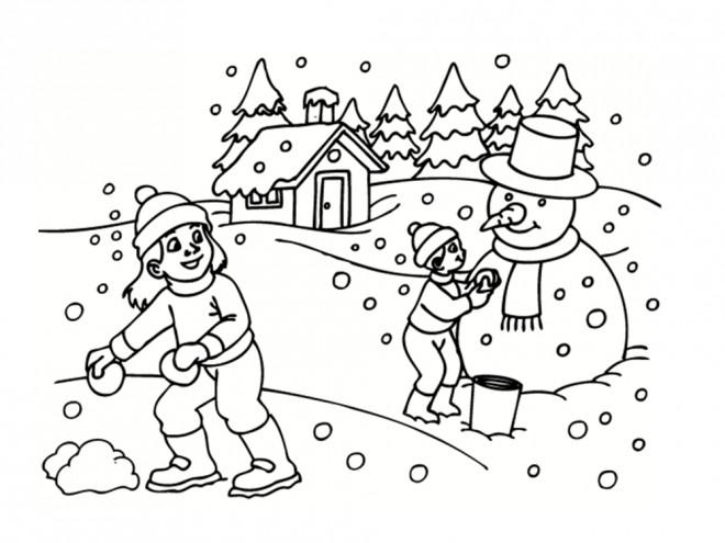 Coloriage et dessins gratuits Hiver Neige 5 à imprimer