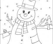 Coloriage et dessins gratuit La Neige Hiver à imprimer