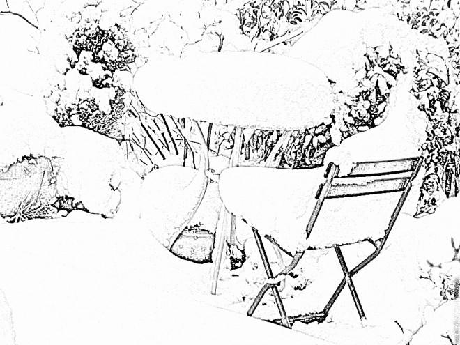 Coloriage et dessins gratuits Paysage Neige 15 à imprimer