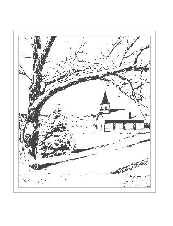 Coloriage et dessins gratuits Paysage Neige 16 à imprimer