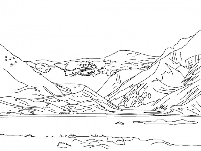 lake scene coloring pages - photo#29