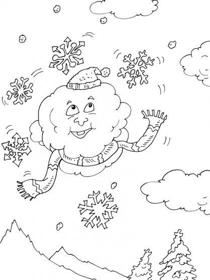 Coloriage et dessins gratuits Paysage Neige 24 à imprimer
