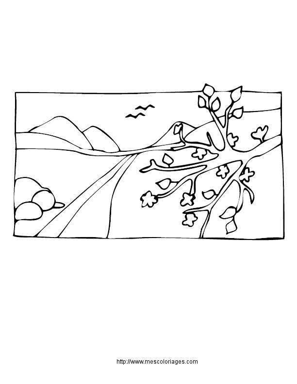 Coloriage et dessins gratuits Paysage Neige 25 à imprimer