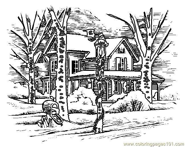 Coloriage et dessins gratuits Paysage Neige 32 à imprimer