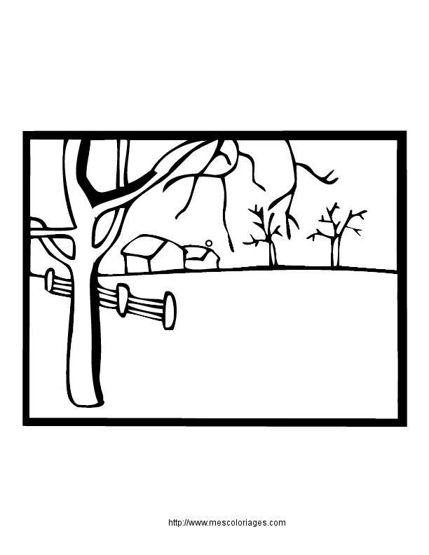 Coloriage et dessins gratuits Paysage Neige 33 à imprimer