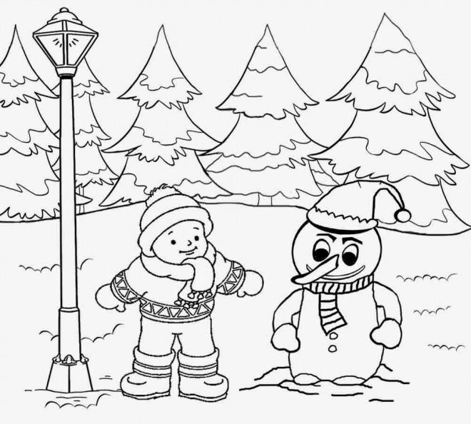 Coloriage et dessins gratuits Paysage Neige 35 à imprimer