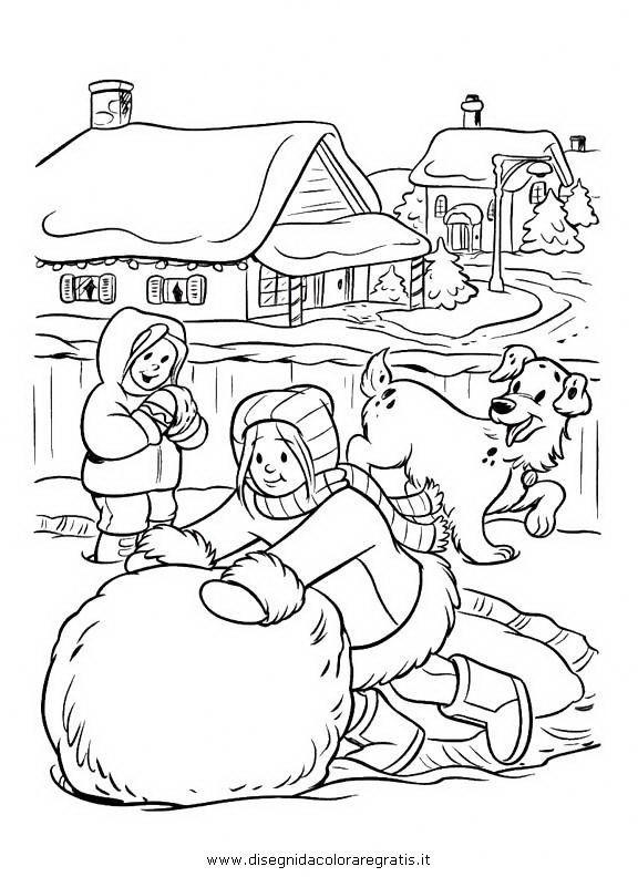 Coloriage et dessins gratuits Paysage Neige 37 à imprimer