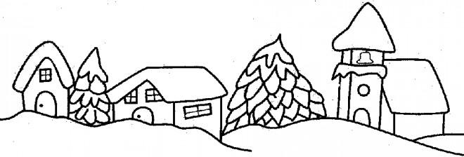 Coloriage et dessins gratuits Paysage Neige 39 à imprimer