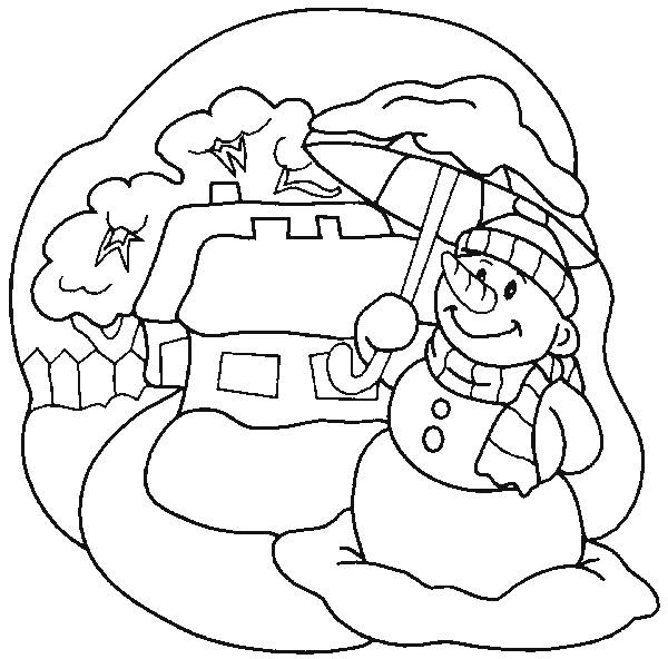 Coloriage et dessins gratuits Paysage Neige 40 à imprimer
