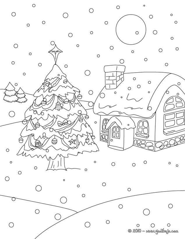 Coloriage et dessins gratuits Paysage Neige 43 à imprimer