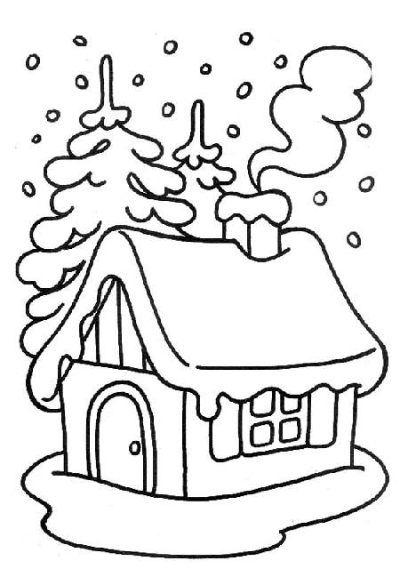 Coloriage et dessins gratuits Paysage Neige 8 à imprimer