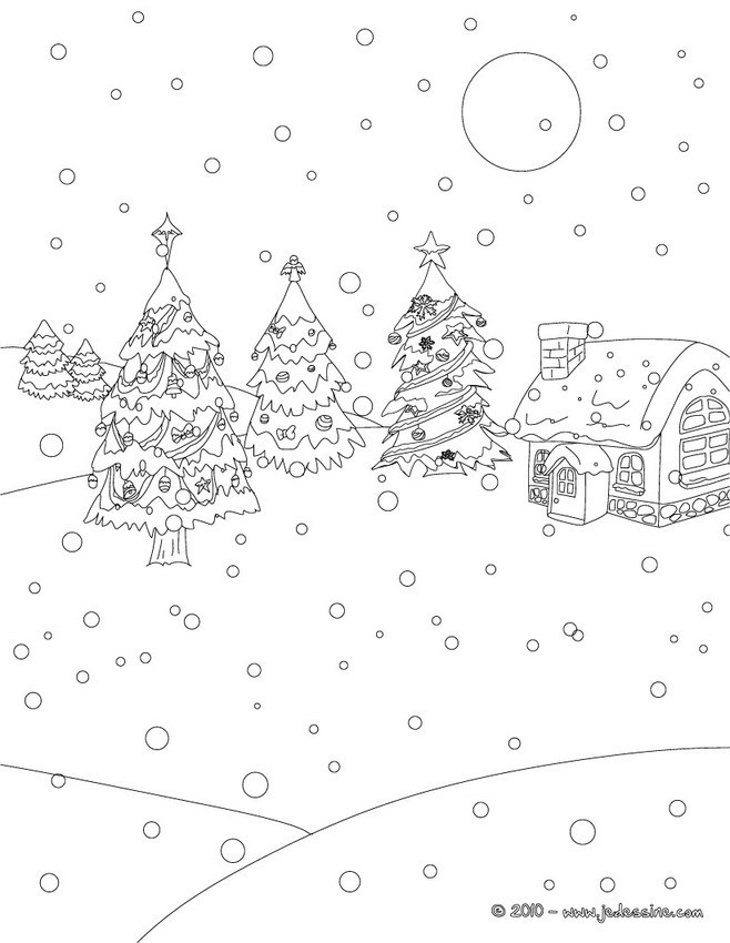 Coloriage et dessins gratuits Paysage Neige 9 à imprimer