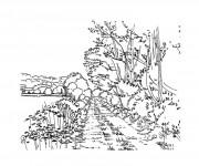 Coloriage dessin  Adulte Paysage 22